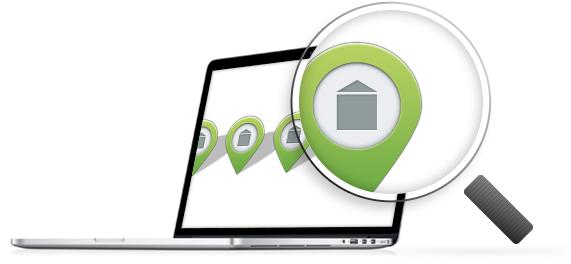 Search agent computer lokalebasen
